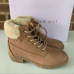 Madden Girl Frannkie tan ankle boots Combat